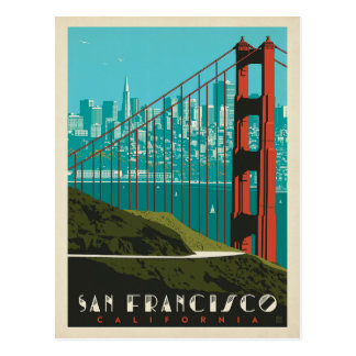 Horizon de San Francisco | golden gate bridge Carte Postale