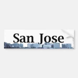 Horizon de San Jose avec San Jose dans le ciel Autocollant Pour Voiture