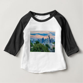 Horizon de Seattle au coucher du soleil T-shirt Pour Bébé