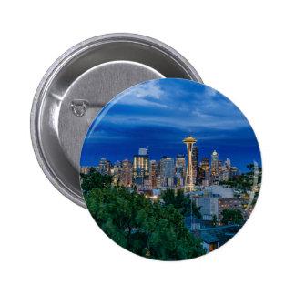 Horizon de Seattle au crépuscule Badge