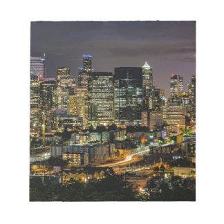 Horizon de Seattle la nuit Blocs Notes