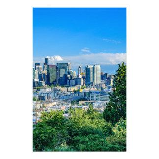 Horizon de Seattle Motifs Pour Papier À Lettre