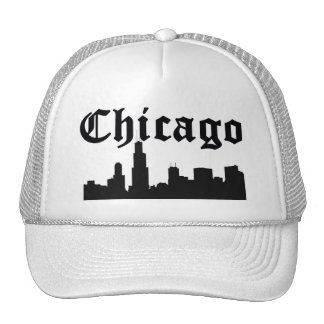 Horizon de silhouette de Chicago Casquette