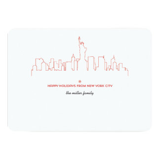 Horizon de vacances de New York City Carton D'invitation 12,7 Cm X 17,78 Cm