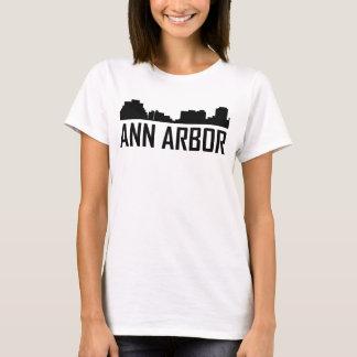 Horizon de ville d'Ann Arbor Michigan T-shirt