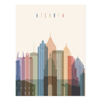 Horizon de ville d'Atlanta, la Géorgie | Cartes Postales
