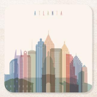 Horizon de ville d'Atlanta, la Géorgie | Dessous-de-verre Carré En Papier