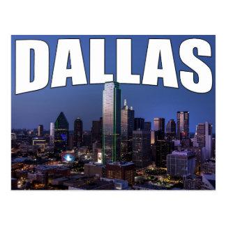 Horizon de ville de Dallas le Texas dans la carte