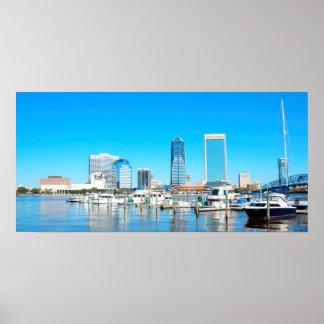 Horizon de ville de Jacksonville Poster
