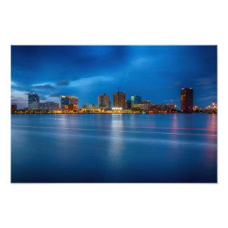 Horizon de ville de la Norfolk Impression Photo