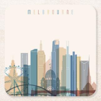 Horizon de ville de Melbourne, Australie | Dessous-de-verre Carré En Papier