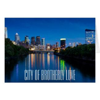 Horizon de ville de Philadelphie à la carte de