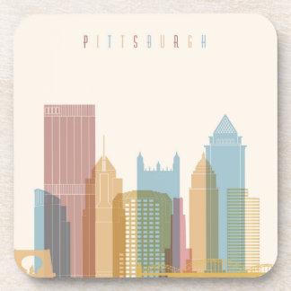Horizon de ville de Pittsburgh, Pennsylvanie | Dessous-de-verre