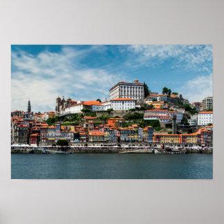 Horizon de ville de Porto Poster
