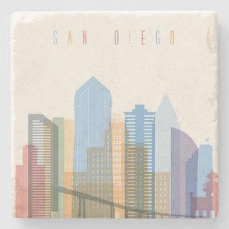 Horizon de ville de San Diego Dessous-de-verre En Pierre