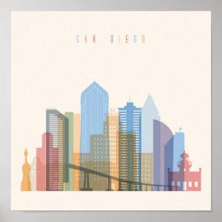 Horizon de ville de San Diego Poster
