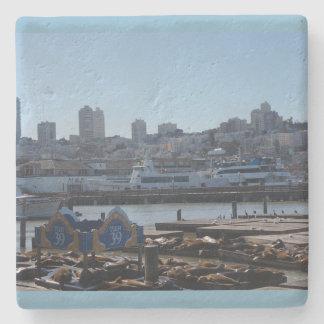 Horizon de ville de SF et dessous de verre Dessous-de-verre En Pierre
