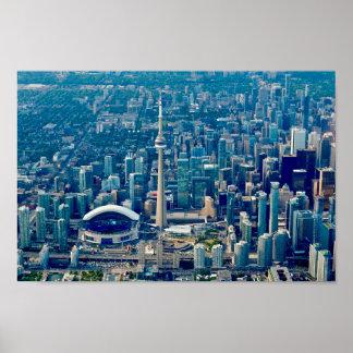 Horizon de ville de Toronto Poster