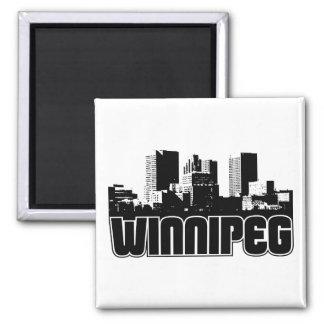Horizon de Winnipeg Magnet Carré