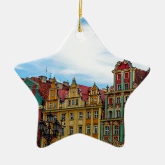Horizon de Wroclaw Pologne Ornement Étoile En Céramique