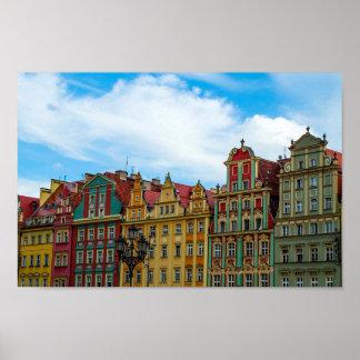 Horizon de Wroclaw Pologne Poster