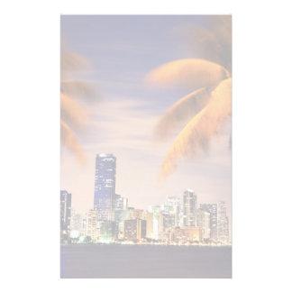 Horizon des Etats-Unis, la Floride, Miami au crépu Papeterie