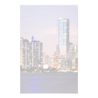 Horizon des Etats-Unis, la Floride, Miami au crépu Papier À Lettre Customisable