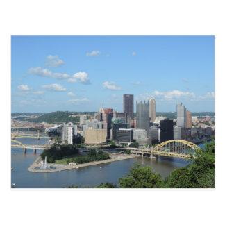 Horizon du centre de Pittsburgh d'antenne Cartes Postales