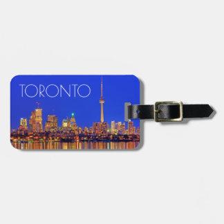 Horizon du centre de Toronto la nuit Étiquettes Bagages