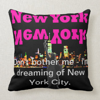 Horizon Manhattan de New York de coussin de voyage