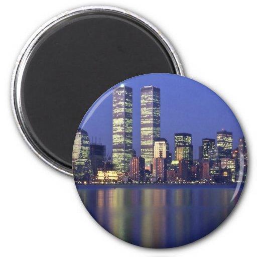 Horizon New York avec le World Trade Center Aimant Pour Réfrigérateur