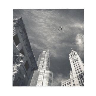 Horizon noir et blanc de Chicago Bloc-note