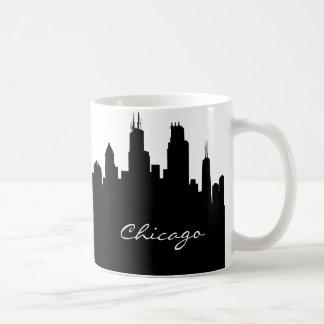 Horizon noir et blanc de Chicago Mug