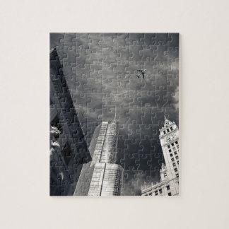 Horizon noir et blanc de Chicago Puzzle