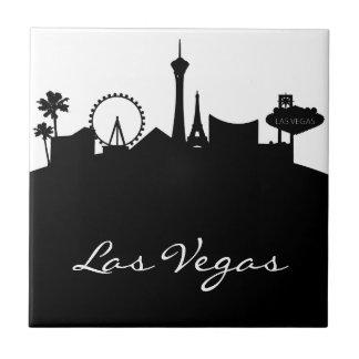 Horizon noir et blanc de Las Vegas Petit Carreau Carré