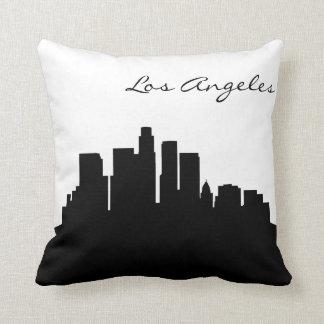 Horizon noir et blanc de Los Angeles Oreillers