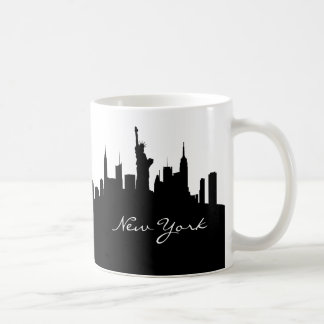 Horizon noir et blanc de New York Mug