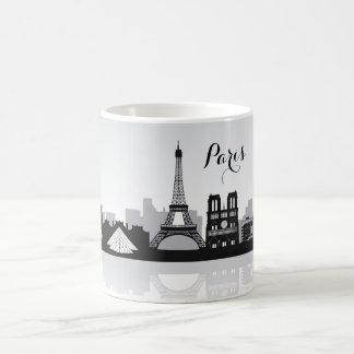 Horizon noir et blanc de Paris Mug