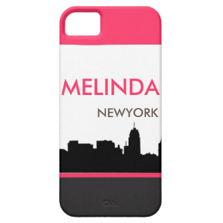 Horizon rose et noir de ville personnalisable iPhone 5 case