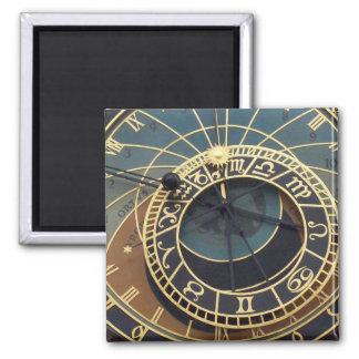 Horloge astronomique de Prague Magnet Carré