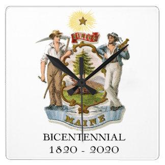 Horloge Carrée Anniversaire du Maine 200th bicentenaire