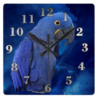 Horloge Carrée Ara de jacinthe