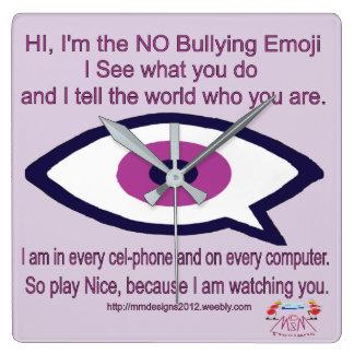 Horloge Carrée AUCUN Emoji de intimidation