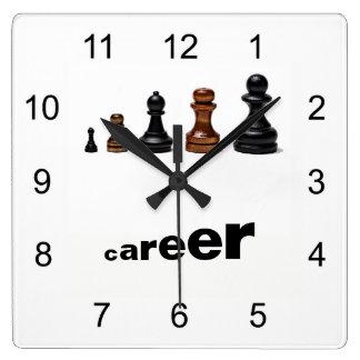 Horloge Carrée Avancement professionnel