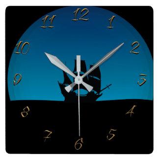 Horloge Carrée Bateau de navigation