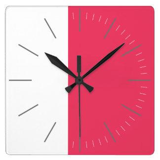 Horloge Carrée Blanc du DUO | plus toute couleur