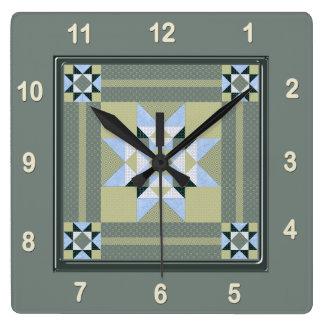 Horloge Carrée Bloc complexe d'édredon de correction d'étoile en