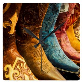 Horloge Carrée Bottes de cowboy à vendre, Arizona