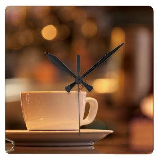 Horloge Carrée Café de cappuccino, Venise, Italie
