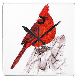 Horloge Carrée Cardinal